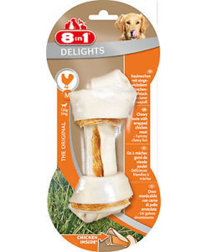 8 In 1 Delights Chew Bone Med Chicken
