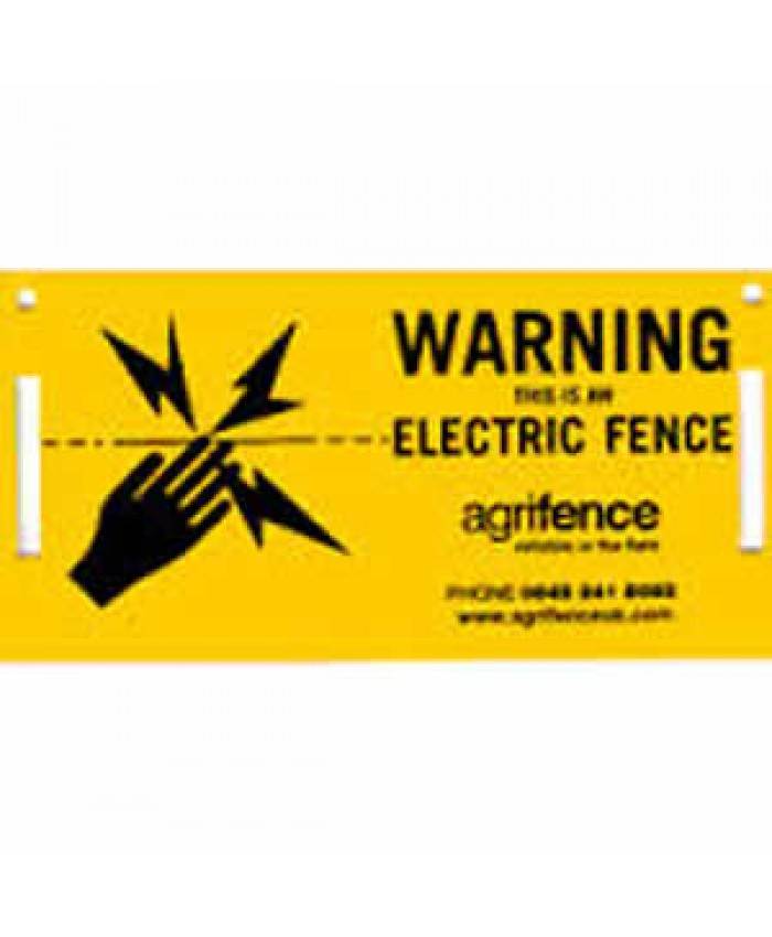 Agrifence Electric Fencing Warning Sign