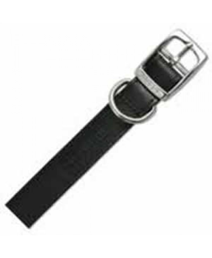 Ancol Heritage Black Leather Collar