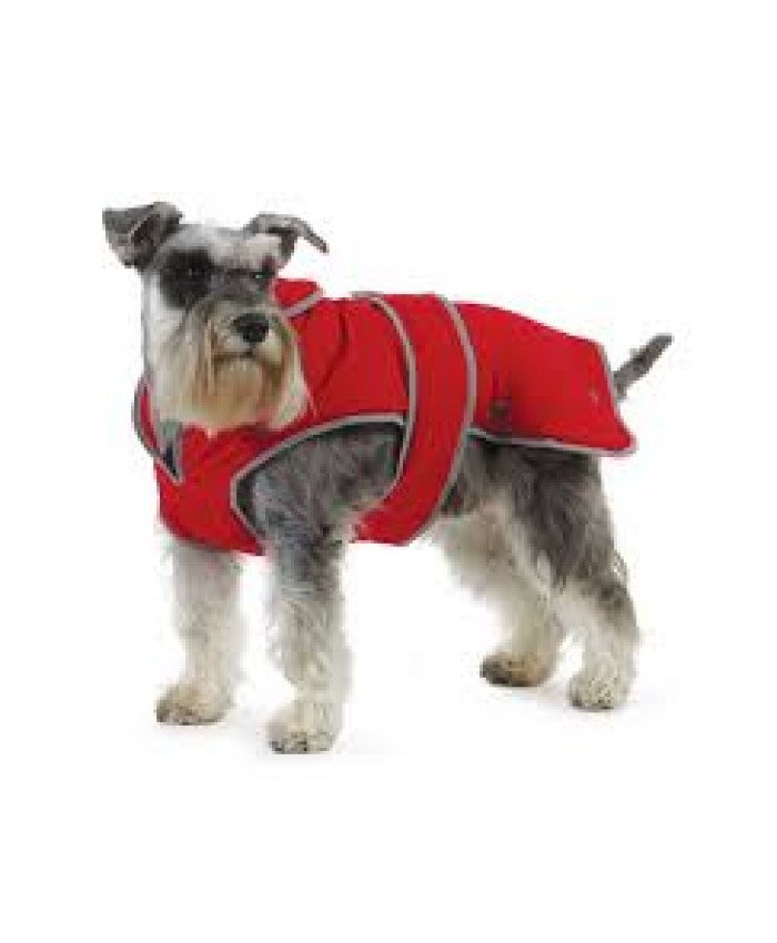 Ancol Muddy Paws Stormguard Coat with Fleece Lining - Red