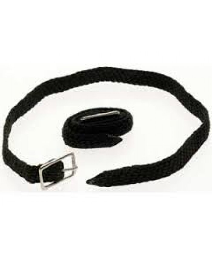 Black Plain Nylon Spur Straps