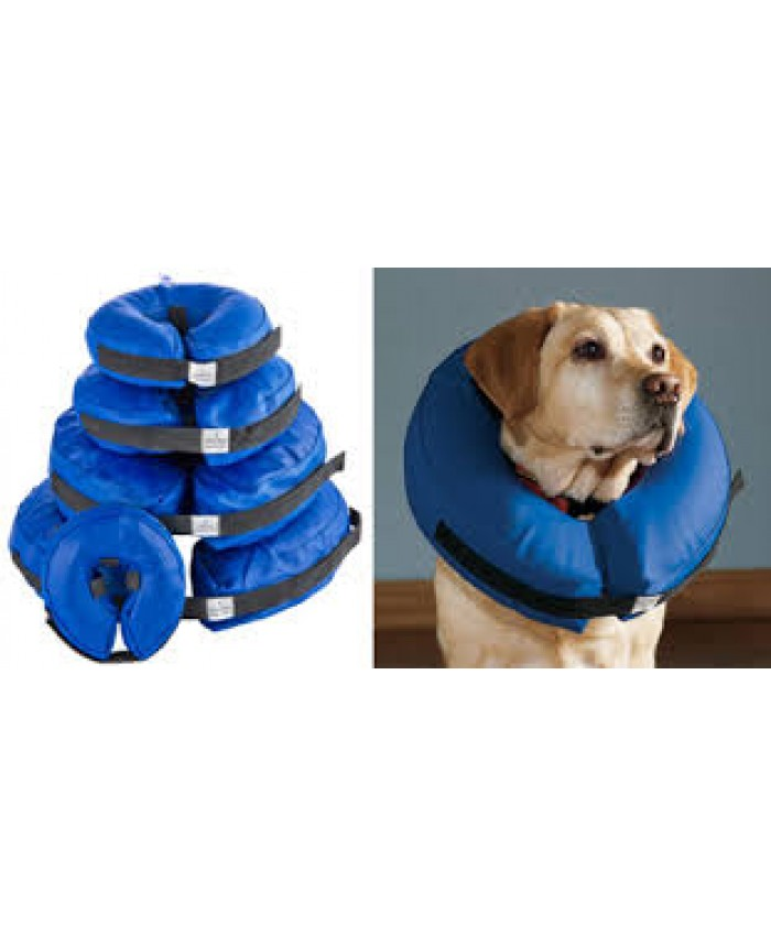 Buster Inflatable Dog Recovery Collar Blue