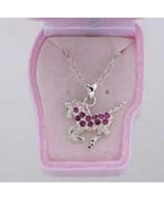 Children's Precious Pony Crystal Necklace