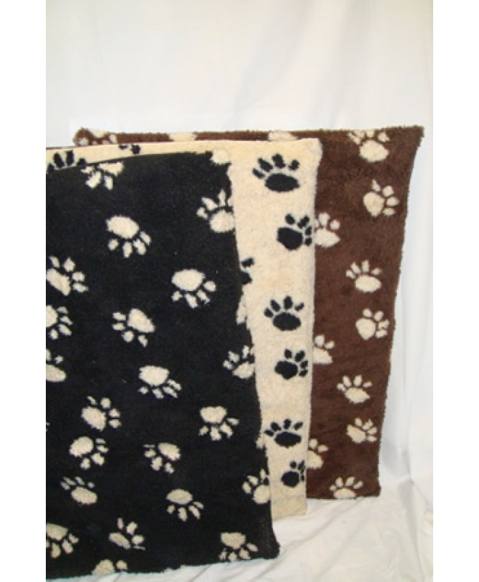 Fleece Flat Dog Bed Black