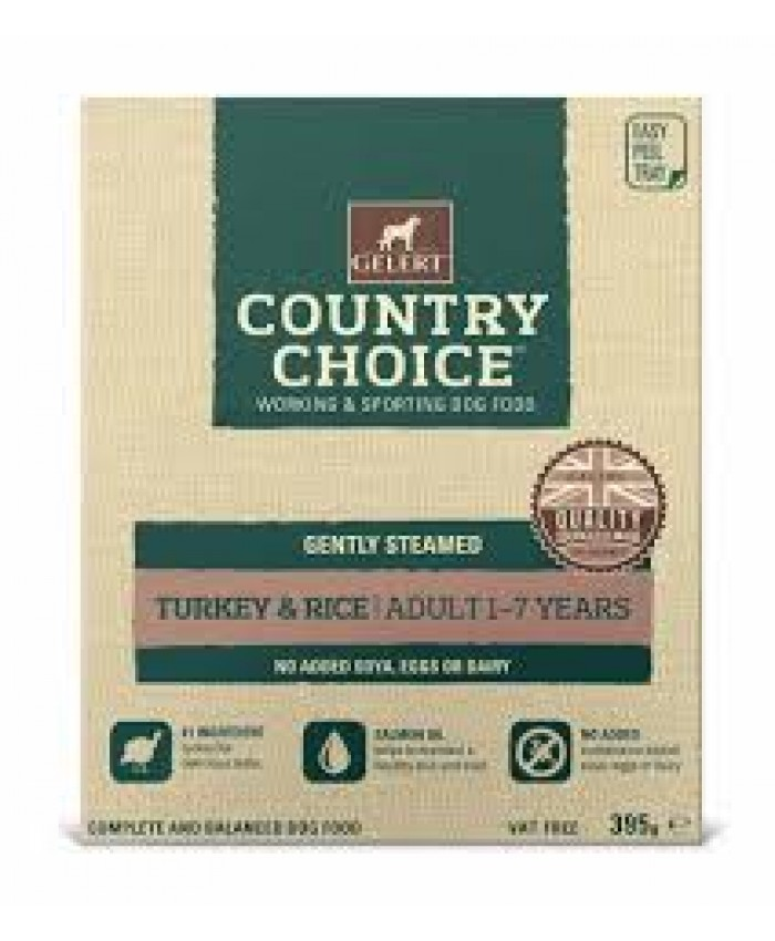 Gelert Country Choice Turkey & Rice Tray