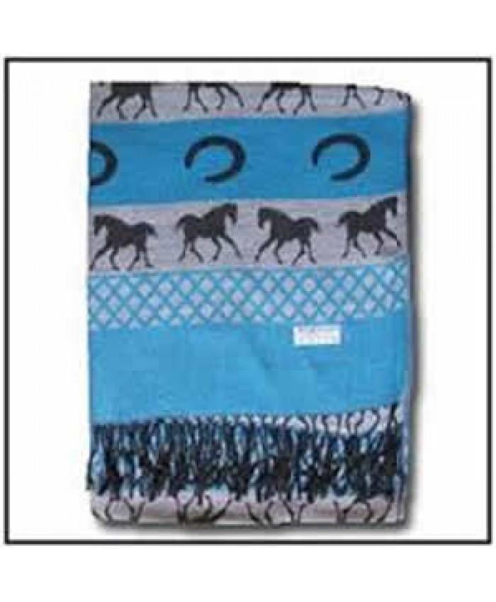 Horse Pashmina Blue