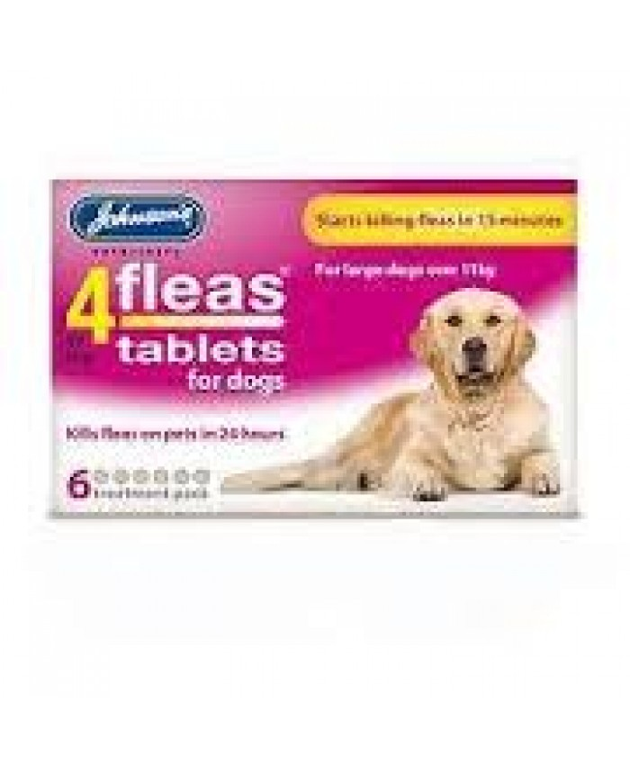 4Fleas Dog Flea Tablets Med/Lrg Dog