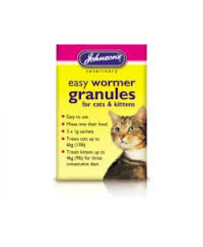 Johnsons Cat/Kitten Easy Wormer Granules