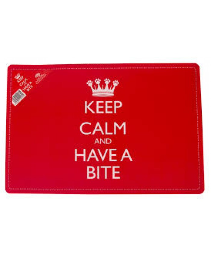 Keep Calm and Have a Bite Food Mat