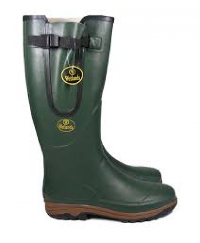 Mens WETLANDS Green Wellington Boots