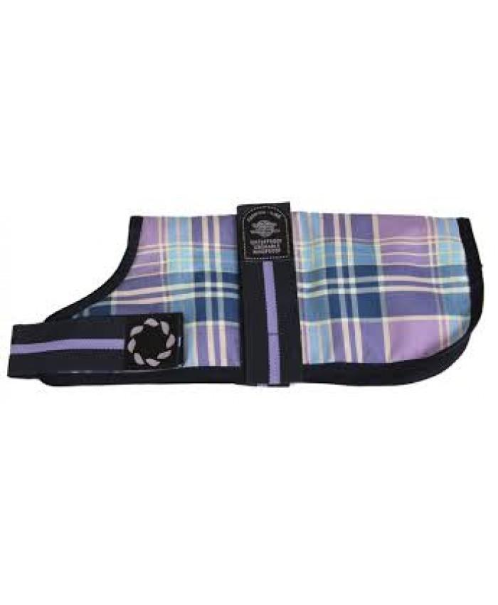 Outhwaites Padded Dog Coat Lilac Check