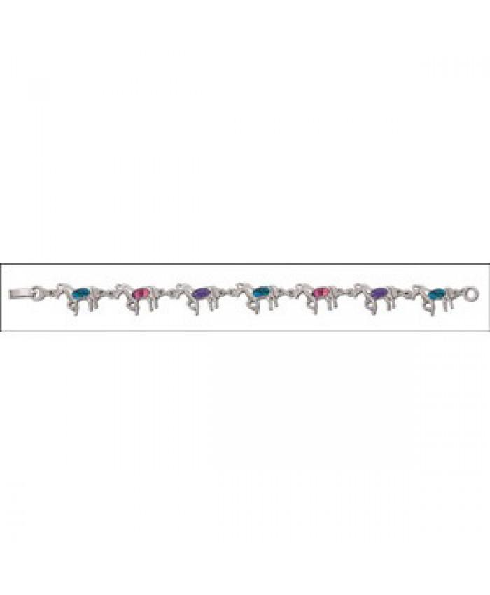 Paua Shell Galloping Horse Bracelet