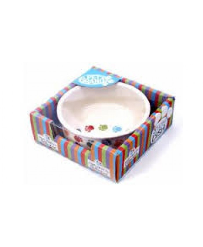 Paw Prints Ceramic Bowl