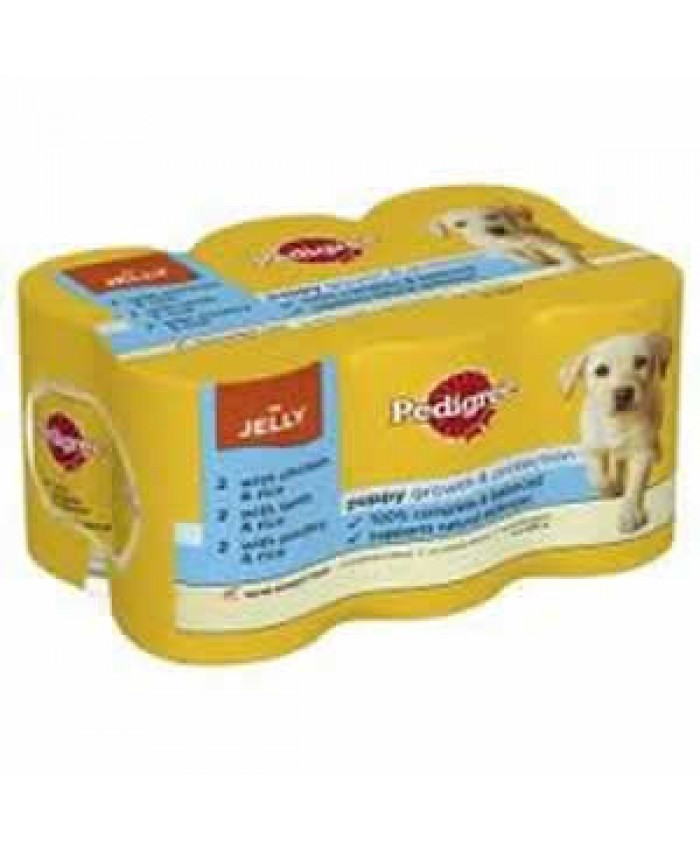 Pedigree Puppy Chunks in Jelly 6x400g