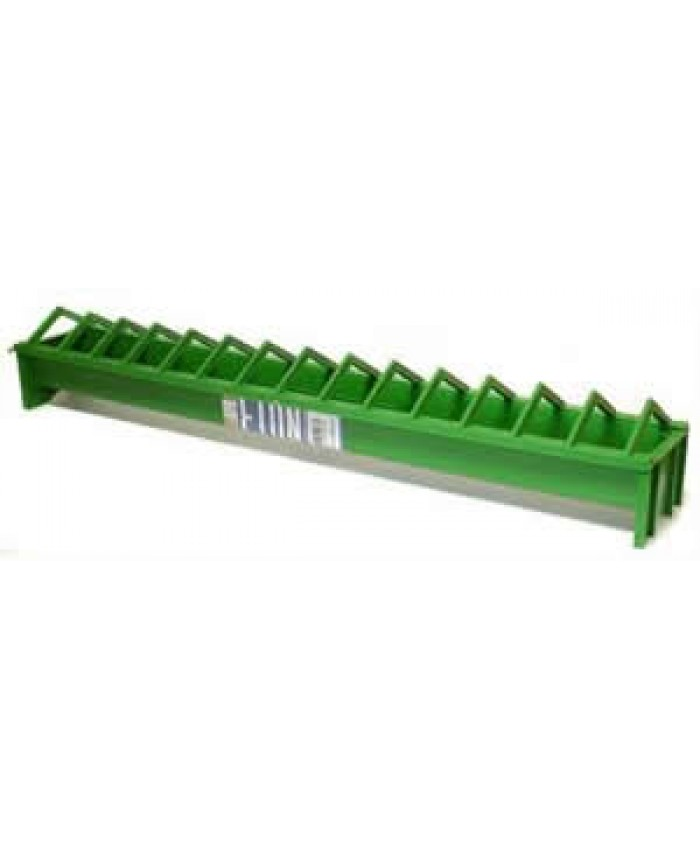 Plastic Chicken Trough Feeder with Grid 100cm