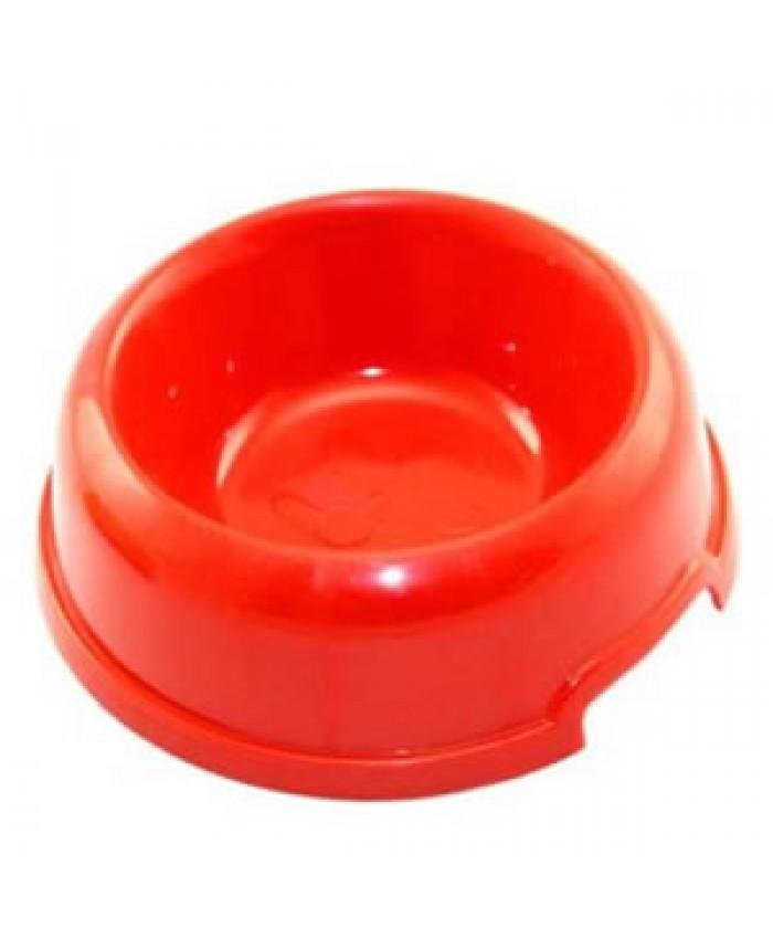 Plastic Pet Bowl Red