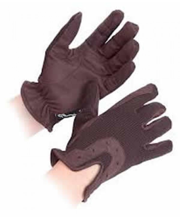 Shires All Day Riding Gloves Brown