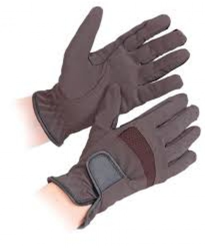 Shires Bicton Lightweight Competition Gloves - Brown