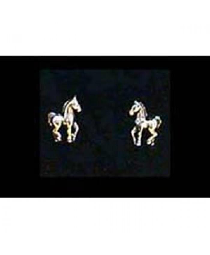 Silver Foal Earrings
