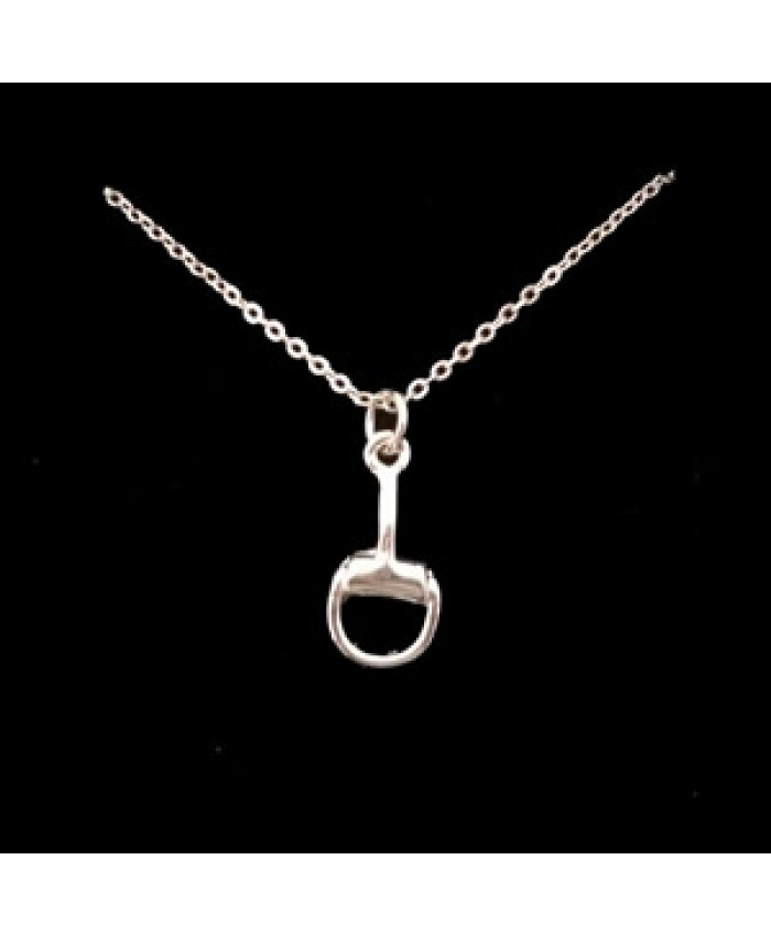 Silver Tone Snaffle Bit Necklace
