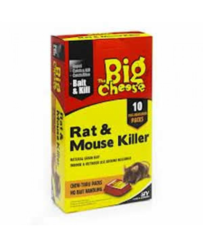 The Big Cheese Rat & Mouse Killer Bait & Kill x 10