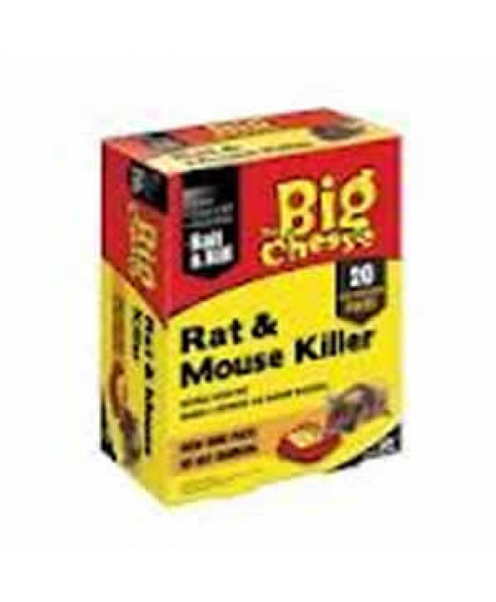 The Big Cheese Rat & Mouse Killer Bait & Kill x 20