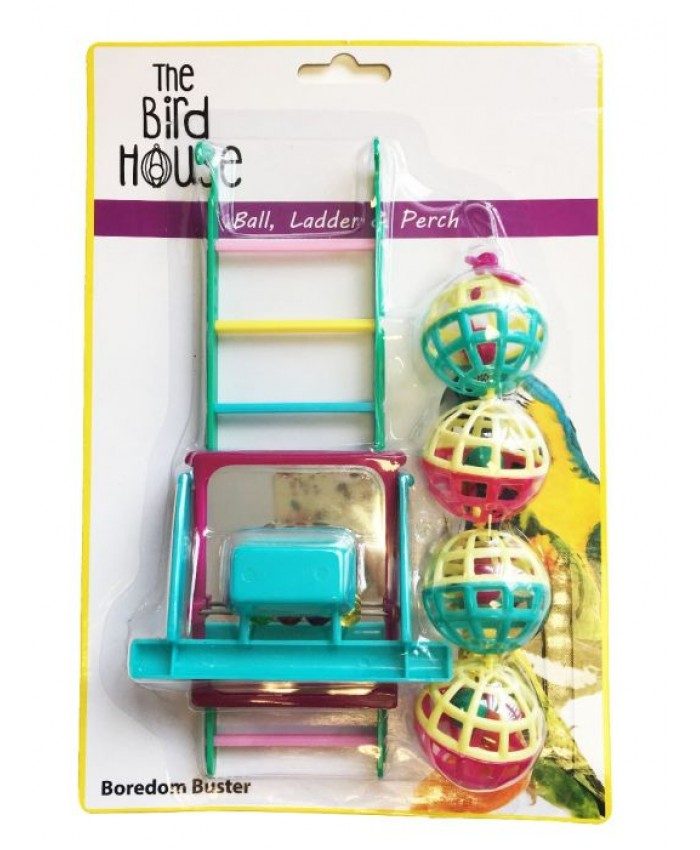 Bird Toy Multipack Ball/Ladder/Perch
