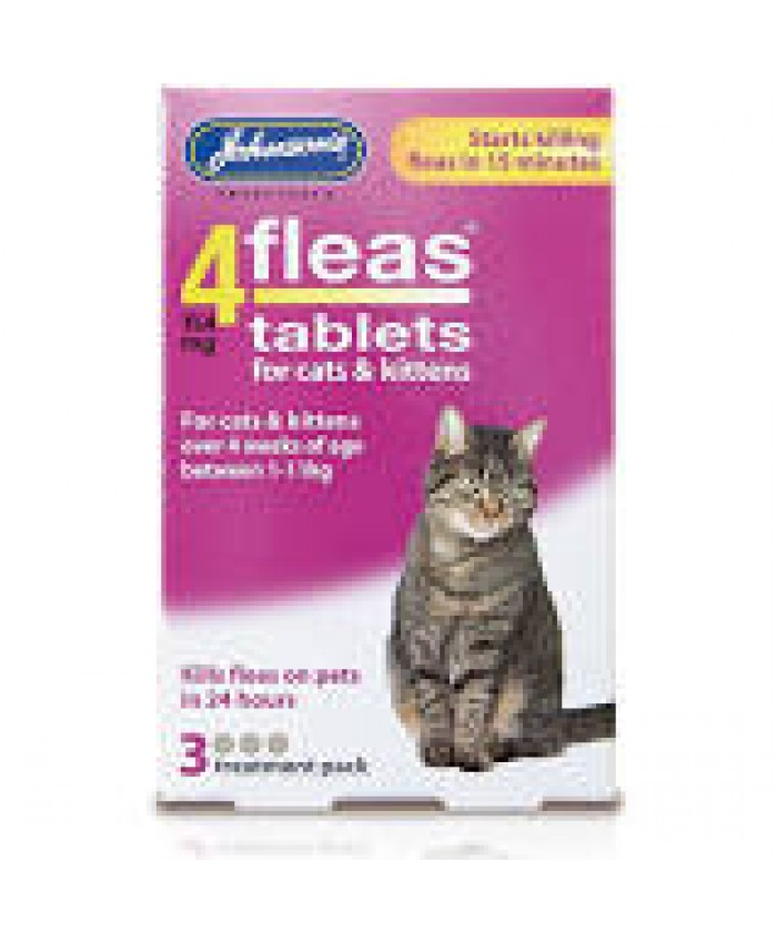 4Fleas Tablets For Cats & Kittens