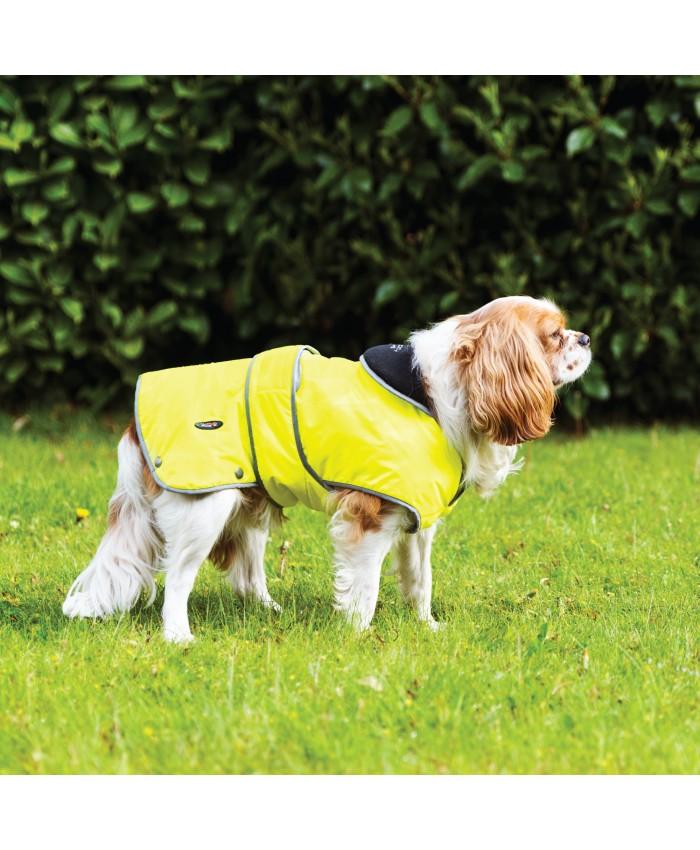 Ancol Hi Vis Stormguard Coat with Fleece Lining