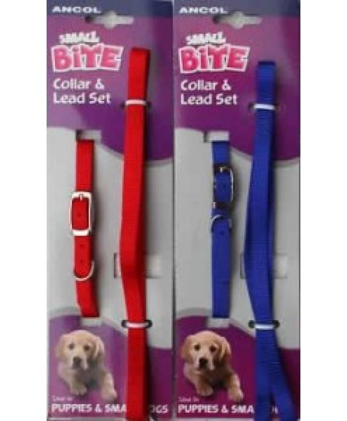 Ancol Small Bite Collar & Lead Puppy Set