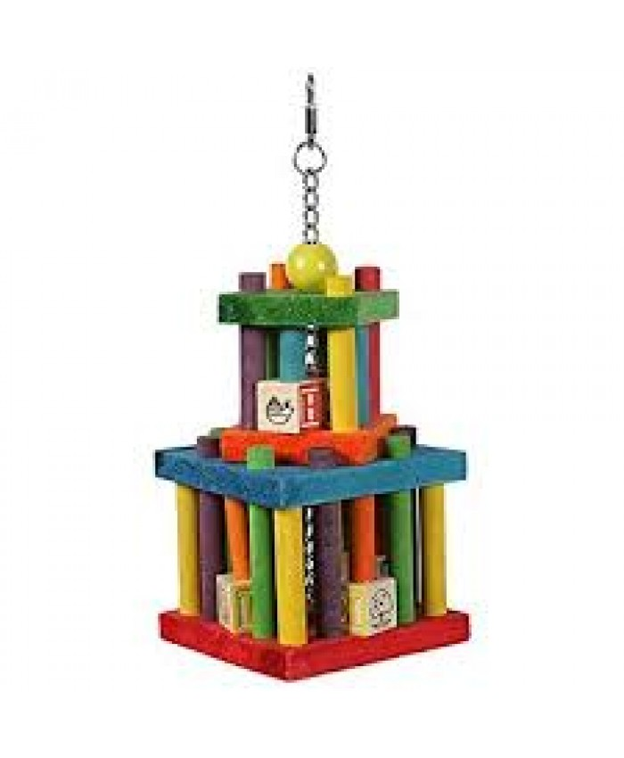 Happy Pet Building Block Maze Parrot Cage Toy