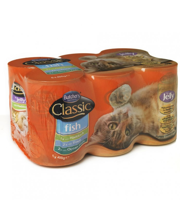 Butchers Classic Fish in Jelly Tins x6