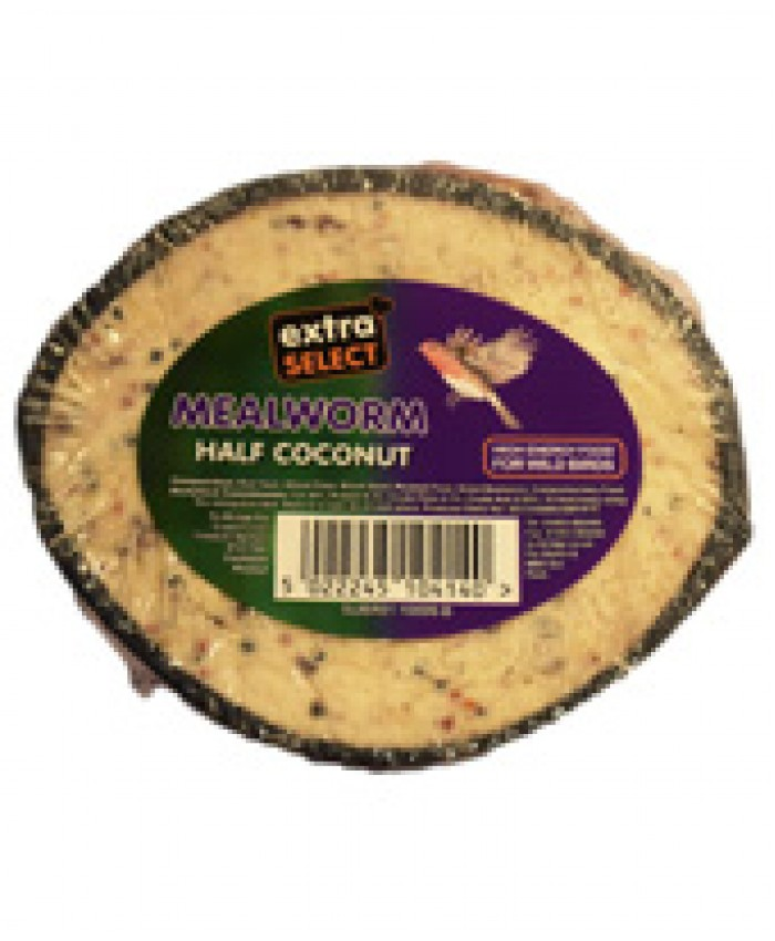Extra Select Half Mealworm Filled Coconuts