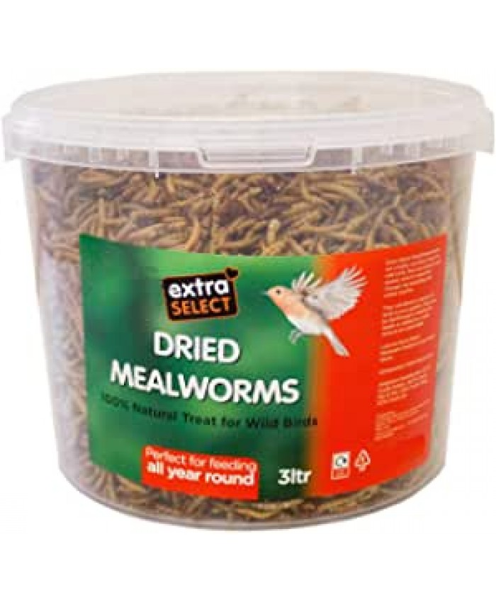 Dried Mealworms 3 Ltr Bucket