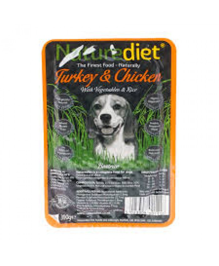 Natures Diet Turkey & Chicken 18x390g