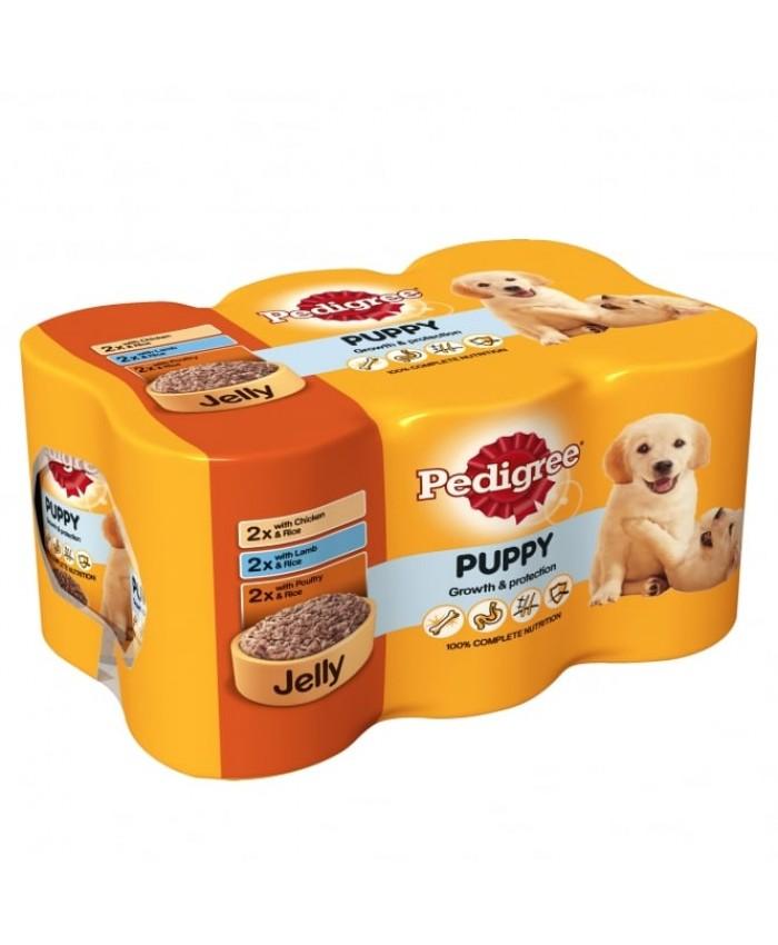 Pedigree Puppy Chunks in Jelly 6x400g