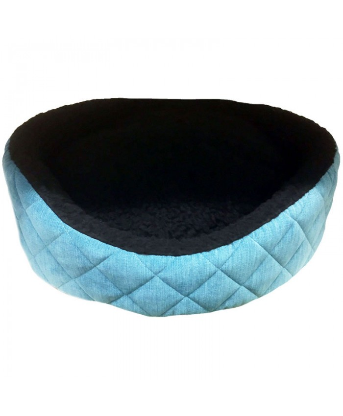 Ancol Teal Quilted Oval Dog Bed