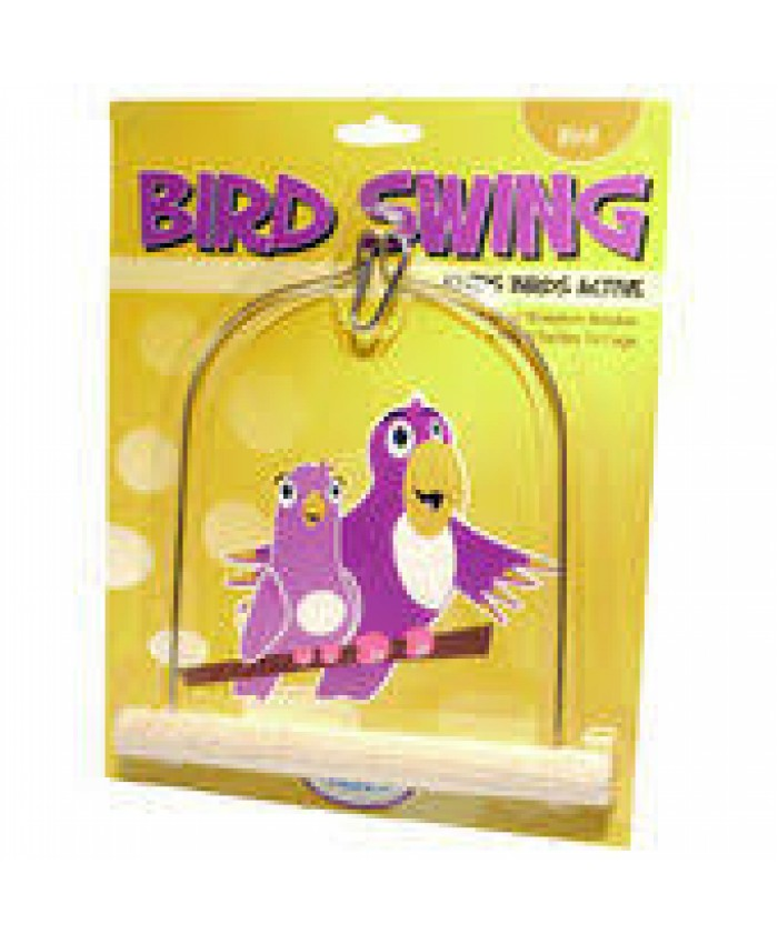 Wooden Bird Swing Medium